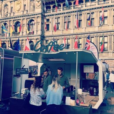 Vilter koffie op markt