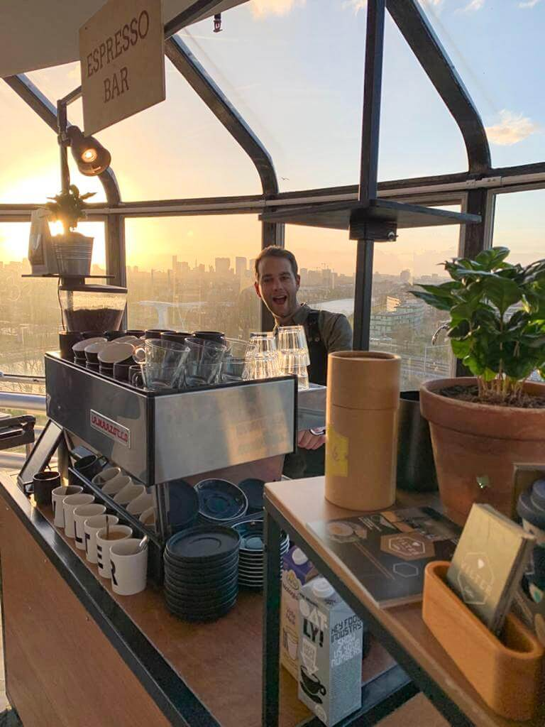 Barista koffie op locatie